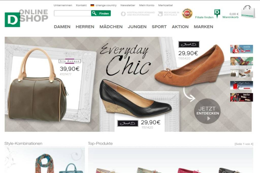 huge selection of 01ce5 d3fef Deichmann Online Shop